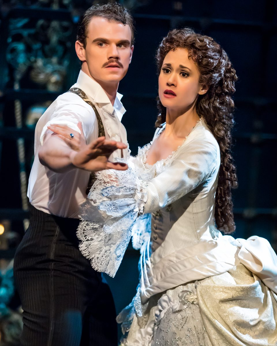 Jay A Johnson as Raoul and Ali Ewoldt as Christine by Matthew Murphy